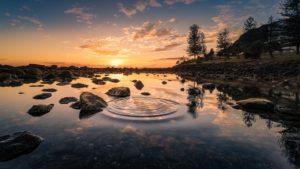 Paysage, Lac, Coucher De Soleil, Réflexion, L'Eau, Ciel