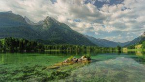 Hintersee, Bergsee, Montagnes, Ramsau, Alpin, Nuages